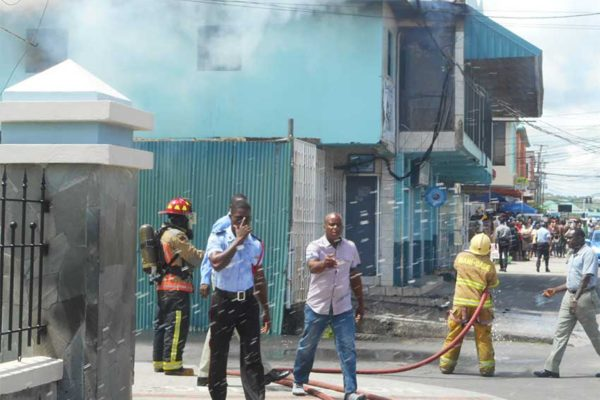 Firefighters finally able to get the Clarke Street fire under control.