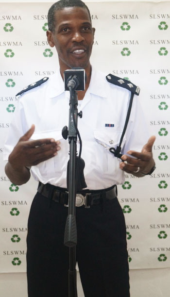 Image: Acting Inspector Foster Chicot's support of the work of the SLSWMA is being praised by the Authority.