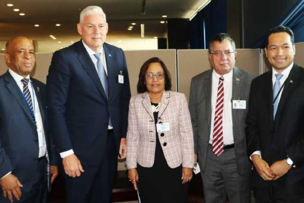 Image: of Prime Minister Allen Chastanet meets with President of the Marshall Islands Hilda Heine & her team.
