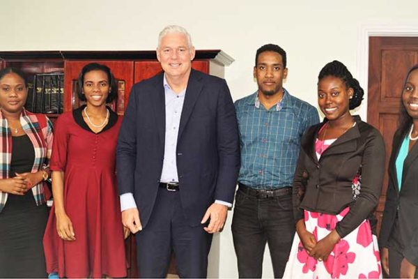 Image: Prime Minister Allen Chastanet with the current NYC Executive.