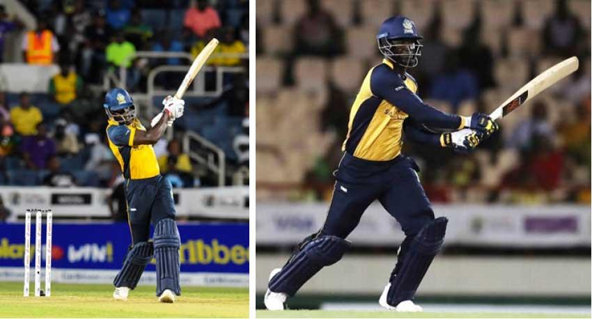 Image: (L-R) Zouks opening batsman Andre Fletcher (36) and captain Daren Sammy (30). (Photo: CPL T20 Ltd/ Getty Images)