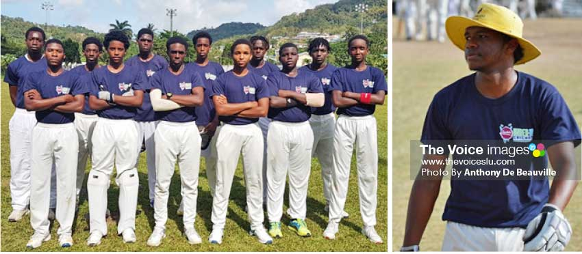 Image: (L-R) Central Castries Under 19 team in the 2019 Sandals Cup; Cepal played his last inning for Central Castries in the Sandals Cup versus Gros Islet. (Photo: Anthony De Beauville)