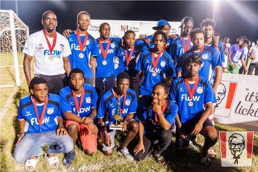 Image: Chaz Cepal and Lancers FC  a winning combination, SLFA  Under 23 champions.(Photo: LFC)