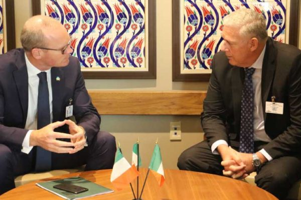 Image: Bilateral meeting with Ireland Deputy Prime Minister and Prime Minister Allen Chastanet.