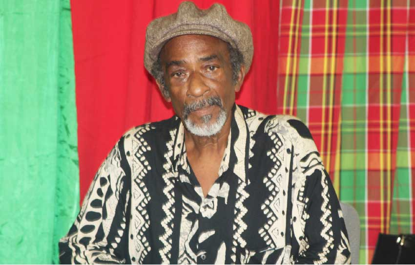 Image of George 'Fish' Alphonse, Programme Co-coordinator at the Folk Research Centre (FRC) which is partnering with Events Saint Lucia for this year's staging of CHM.
