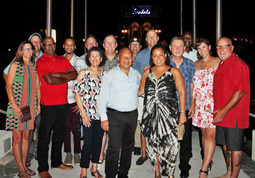 Image of Golf professionals visiting Sandals Resorts in Saint Lucia.