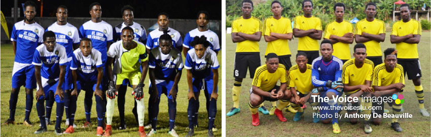 Image: (L-R) Two former champions, Gros Islet and Micoud, one will get knocked out of championship   glory on Sunday. (Photo: Anthony De Beauville)
