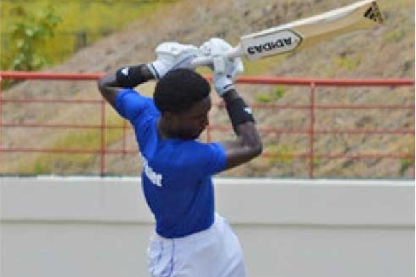 Image of Saint Lucia, Windward Island and West Indies Under 19 opening batsman, Kimani Melius. (Photo: Anthony De Beauville)
