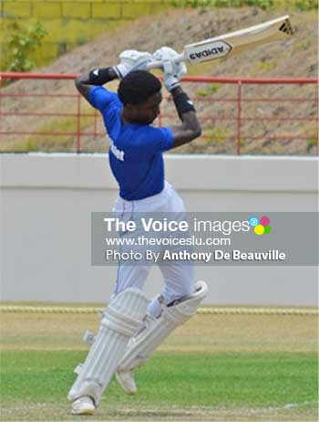 Image of Saint Lucia, Windward Island and West Indies Under 19 opening batsman, Kimani Melius. (Photo: Anthony De Beauville)