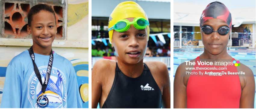 Image: (L-R) Maliyah Henry (Southern Flying Fish), JasmieSteide (Sharks) and  Anyka Holder (Southern Flying Fish).