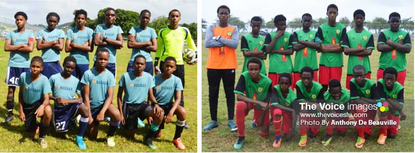 Image: (L-R) Some of the player's who will be in action in the CFC/ BOSL/LUCELEC Youth Tournament this           weekend. (Photo: Anthony De Beauville)