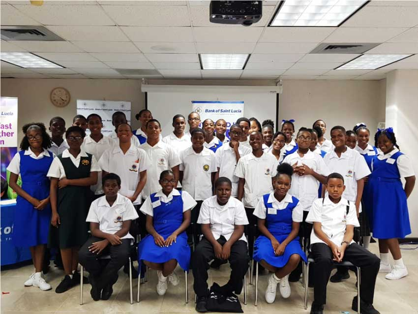 Image: Students at this year's Bank of Saint Lucia Student Success Workshop.