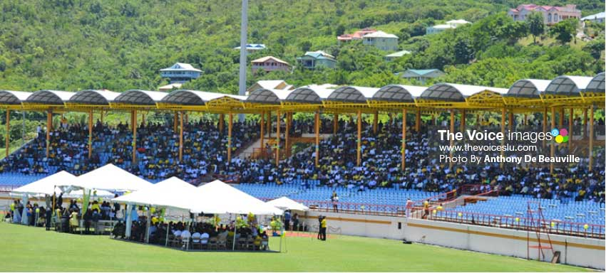 Image: Thousands of Saint Lucians came out to say farewell to Chaz. (Photo: Anthony De Beauville)