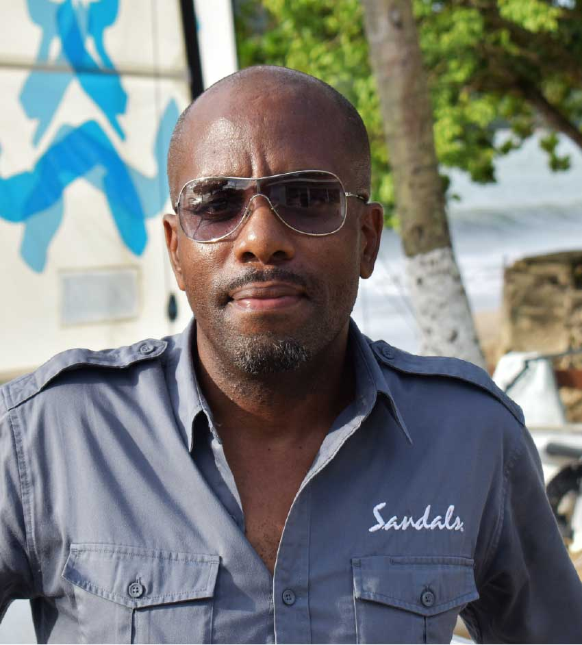 Image: Windell John, Regional Manager of Water-Sports for Sandals International.