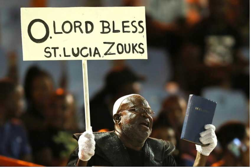 Image: A Zouks fan called on the Lord for help and help did come. (Photo: CPL T20 Ltd 2019)