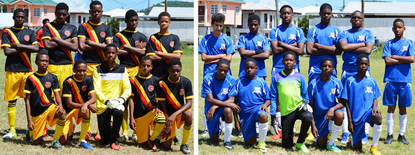 Image: (L-R) Flames FC defeated Valley Soccer Academy 3-1. (PHOTO: Anthony De Beauville)