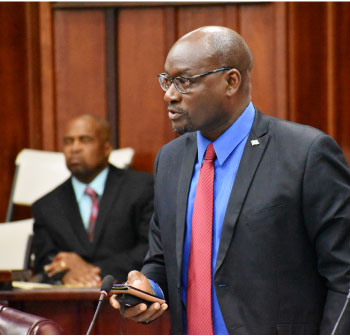 Image of Parliamentary Representative for Vieux Fort North, Moses Jn Baptiste