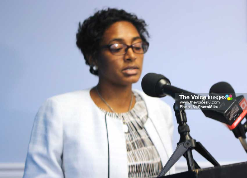 Image of Director of Implementation in the Office of the Prime Minister Nancy Charles. [Photo: PhotoMike]