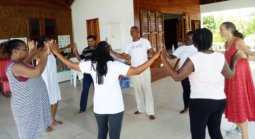 Image of Participants during the Biodanza workshop.