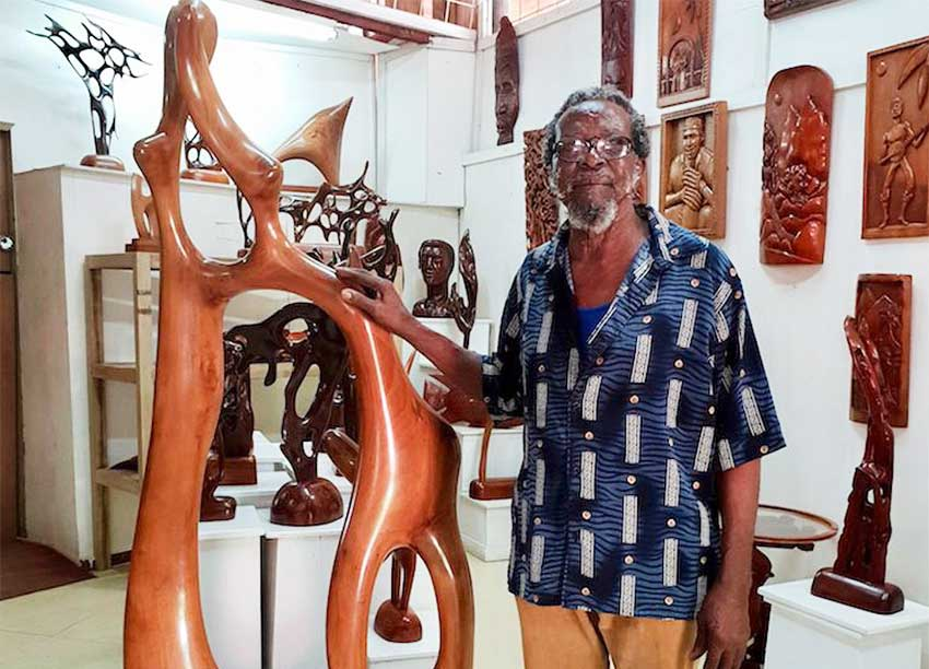 Image of Saint Lucian sculptor Vincent Eudovic.