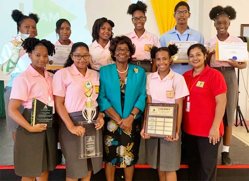 Image: Vieux Fort Secondary School made their presence felt.
