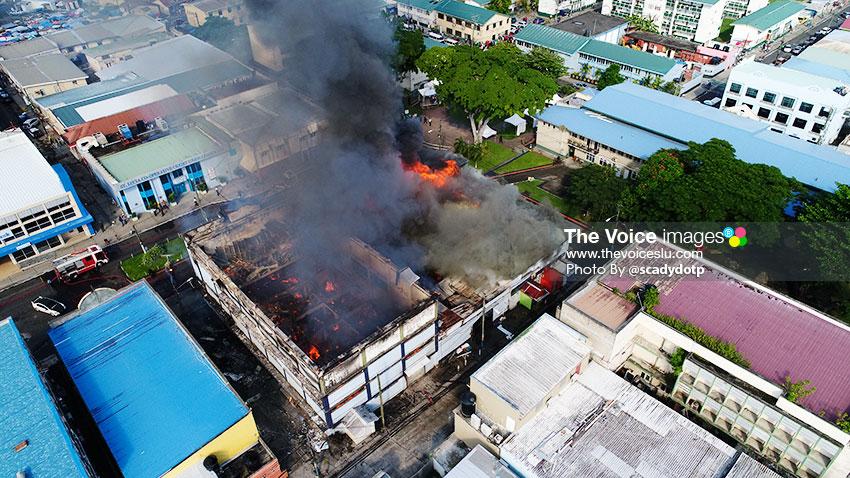 Image of Adjodha Building on fire