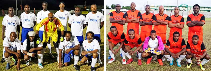 Image: (L-R) Lancers FC and Laborie Veterans. (PHOTO: VISI)
