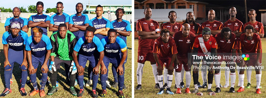 Image: (l-r) Marchand and Gros Islet Veterans both won their games on Wednesday evening. (PHOTO: Anthony De Beauville/VISI)