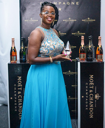 Image: Representative of Abby's Exotic Blends Ltd, winner of the Small Business of the Year award.