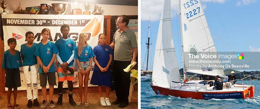 Image: (L-R) Six youth sailors will make their debut in this year's Mango Bowl; Flashback 2018! Last year's winning boat Attitude, renamed 'Scotty Boy' for 2019. (PHOTO: Anthony De Beauville)