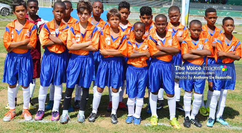 Image: (L-R)Some of the youth players that will be on show at the SAB Sporting Facility today. (PHOTO: Anthony De Beauville)