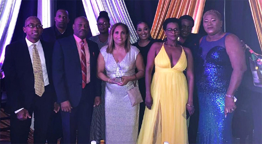 Image of the St Lucia Distillers Limited team – winners of the Export Achievement of the Year award.