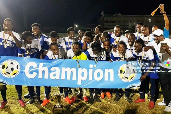 Image: Gros Islet 2019 SLFA / NLA Island Cup Champion. (PHOTO: Anthony De Beauville)
