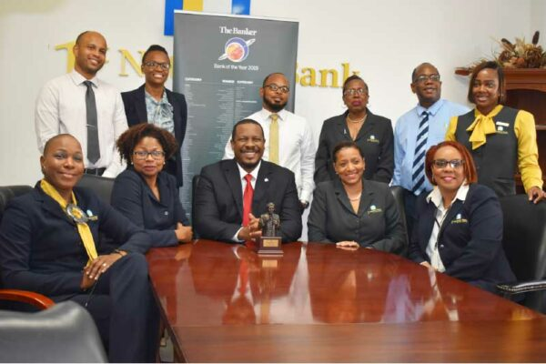 Image of Management and staff of 1st National Bank St. Lucia.