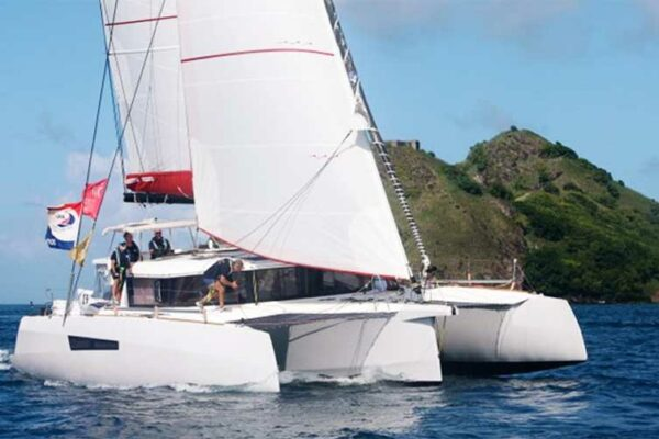 Image: Minimole arrives in Rodney Bay Saint Lucia. (PHOTO: Tim Wright/ Photoaction.com)