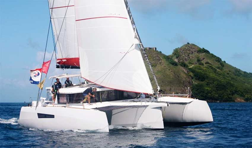 Image: Minimole arrives in Rodney Bay Saint Lucia. (PHOTO: Tim Wright/ Photoaction.com)