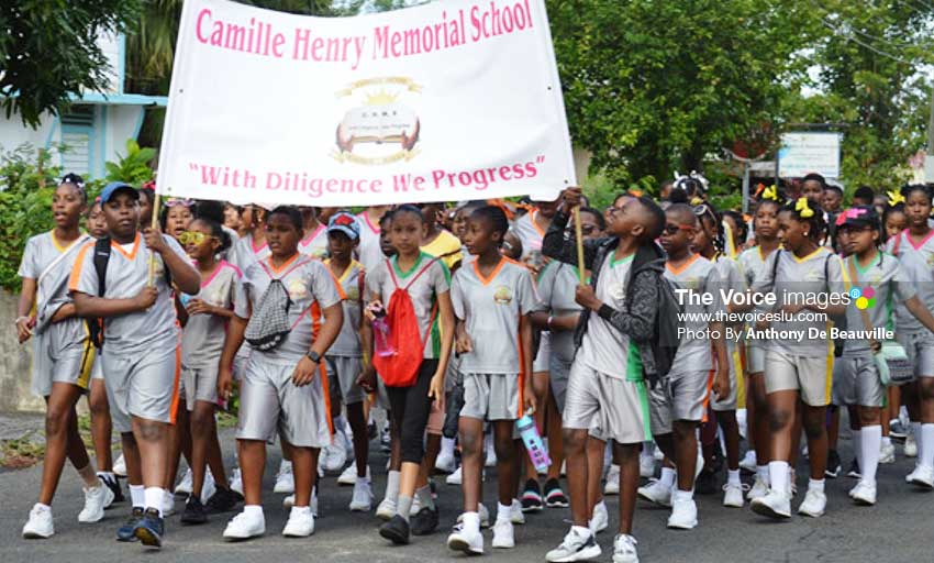 Image: Camille Henry Memorial School progressing well along the route. (PHOTO: Anthony De Beauville)