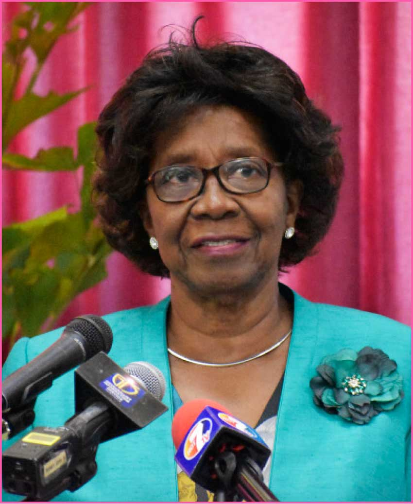 Image of Her Excellency Dame Pearlette Louisy, Governor General Emerita of Saint Lucia, and Chairperson of the Nobel Laureate Festival Committee.