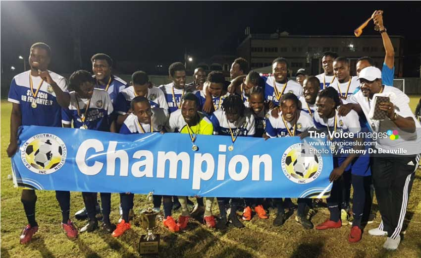 Image: Recently crowned SLFA Island Cup champions, Gros Islet. (PHOTO: Anthony De Beauville)