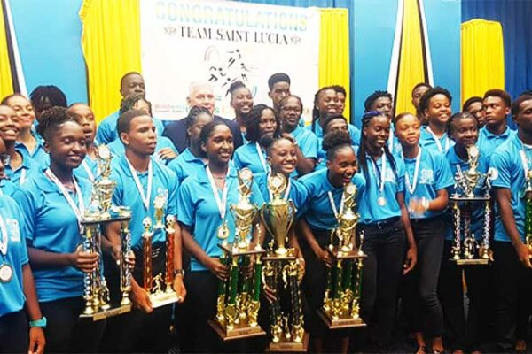 Image: Saint Lucia 2019 Windward Islands Schools Champions. (PHOTO: SA/ Anthony De Beauville)