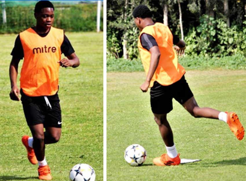 Image: (L-R) Semiprofessional footballer and former GMC United player, Tyrece Jeremie. (PHOTO: CD)