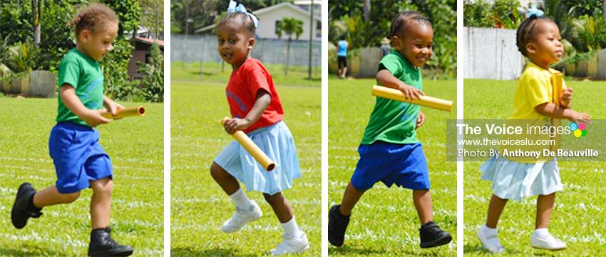 Image: The Kindergarteners – these future sportsmen and women also showcased their God given talent. (PHOTO: Anthony De Beauville)