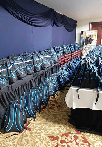Image: Sandals ensured their staff members did not go home empty handed.