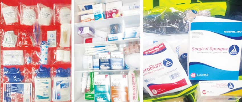 Image: (L-R) Well stocked Medical Kit. (PHOTO: Anthony De Beauville)