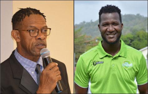 Image: (L-R) SLNCA President Carol Henry and former West Indies captain Daren Sammy. (PHOTO: Anthony De Beauville)