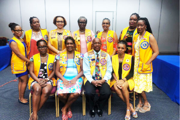 Image: Board of Directors of the Lions Club of Castries led by Lion Christopher Emmanuel.