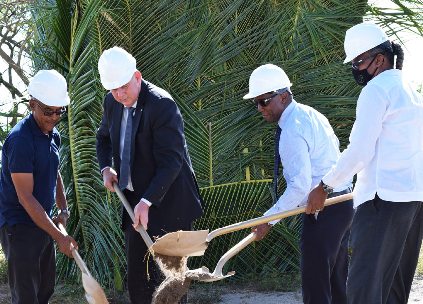 Image: ISL was applauded for adding to the beauty of the Choiseul community at a symbolic groundbreaking ceremony held in La Fargue.