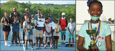 Image: (L-R) Participants at the one day extravaganza organize by Blanchard's Tennis; Jaylyn Henry had an outstanding performance on court. (PHOTO: Anthony De Beauville)