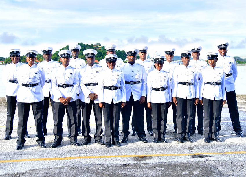 Image of new Port Police Recruits