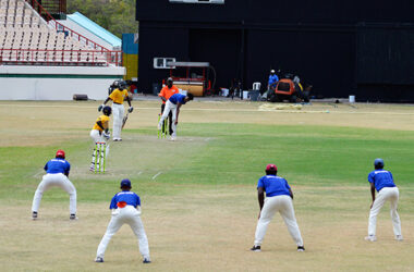 Image: Flashback!! Some of Saint Lucia's finest Under 19 cricketers in action at the DSCG. (PHOTO: Anthony De Beauville)
